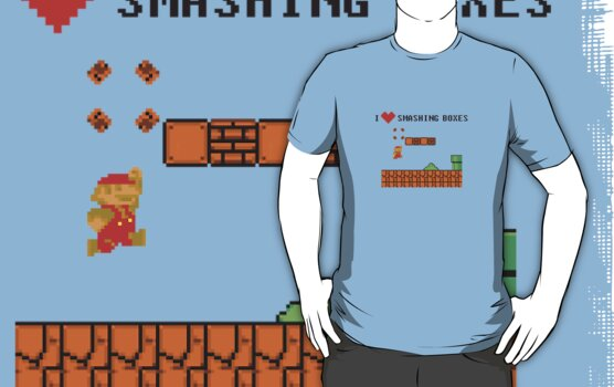 Mario Bros - I Love Smashing Boxes by antdragonist