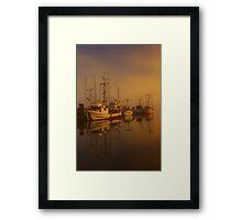 Misty Moorings II Framed Print