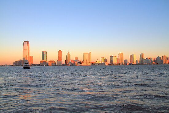 Lower Jersey City From Manhattan by pmarella