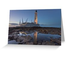 St Mary's Lighthouse Greeting Card
