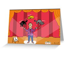 Amazo - The Cat Juggler Greeting Card