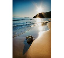 Gerakas Beach Sunset, Zakynthos, Greece Photographic Print