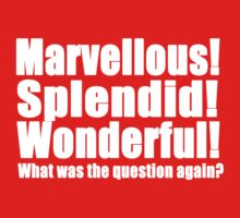 Marvellous! Splendid! Wonderful! (W) by BethXP