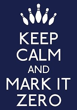 Keep calm and mark it zero (white) by karlangas