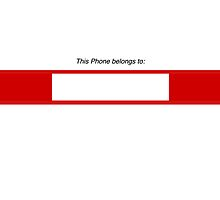 This phone belongs to (write your name or sign your phone) Apple iphone 4 4s, iPhone 3Gs, iPod Touch 4g case by lapart