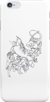 Japanese Gods  iphone 4 4s, iPhone 3Gs, iPod Touch 4g case by lapart