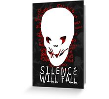 Doctor Who - Silence Will Fall Greeting Card