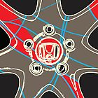 Honda Wheel Iphone case by Kris Graves