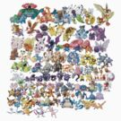 Original 151 Pokemon by Stephen Dwyer