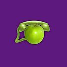 Apple Phone on purple by Andy Hook