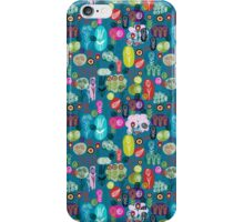 Cute Colorful Abstract Hand-drawn Retro Flowers Pattern iPhone Case/Skin