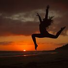 Silhouette at Point Lonsdale by Julie Begg