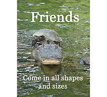 """Friends come in all shapes and sizes""  by Carter L. Shepard Photographic Print"