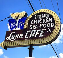 Route 66 - Luna Cafe by Frank Romeo