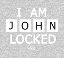 I am JohnLocked-White Print by ShubhangiK