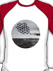 Landscape of Geometry Circular Sticker T-Shirt