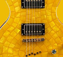 Yellow Tiled Guitar Case by HighDesign