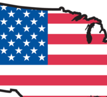 Land of The Free Home of The Brave T-Shirt Sticker