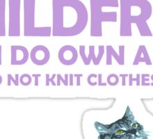 Childfree with cat (light) Sticker