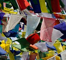 Prayer Flags in the Breeze by Don Schwartz