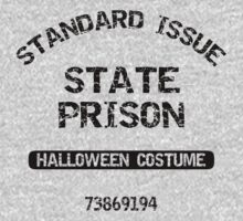 "Halloween ""State Prison Halloween Costume"" T-Shirt by HolidayT-Shirts"