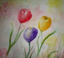 SOFT AND DELICATE-Watercolor painting by Esperanza Gallego