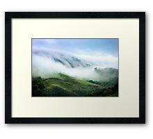 Morning Fog on Mission Peak Framed Print