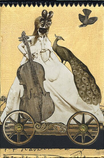 Magic Masquerade Train - Charlotte & her Cello by WinonaCookie