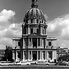 BW France Paris Church Saint Louis des Invalides 1970s by blackwhitephoto