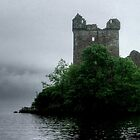 Out of the gloom - Urquhart Castle.......! by Roy  Massicks