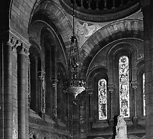 BW France Paris sacre Coeur basilica virgin chapel 1970s by blackwhitephoto
