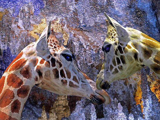 Blue Cave Giraffes Fantasy for Children by Lynda Lehmann