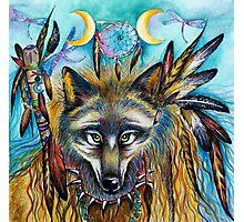 Shaman Spirit Wolf  Photographic Print