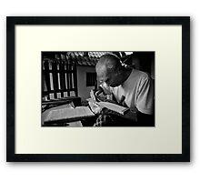 the writer Framed Print