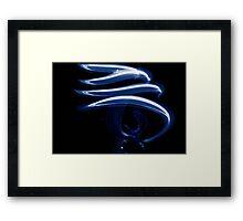 BLUE CYCLONE Framed Print