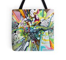 Tubes of Wonder - Abstract Watercolor + Pen Illustration Tote Bag