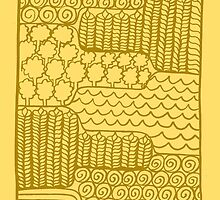 Pengaston Saxon landscape by springwoodbooks