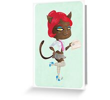 Kitty girl three Greeting Card