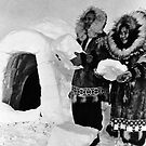 BW USA Alaska igloo builders 1970s by blackwhitephoto