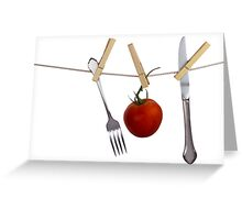 Lite Lunch Greeting Card