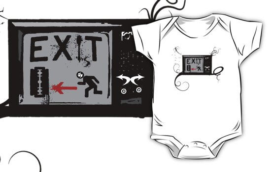 Exist - Vintage TV - Exit - RUN AWAY FROM IT! by Denis Marsili