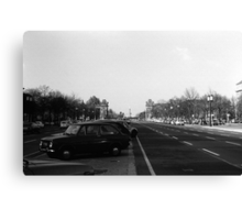 BW Germany Berlin The 17th June Street 1970s Canvas Print