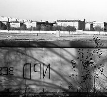BW Germany Berlin wall 1970s by blackwhitephoto