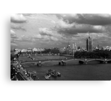 BW UK England London The River Thames 1970s Canvas Print