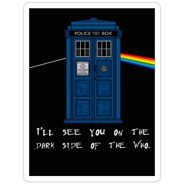 The Dark Side Of Who V2 (Sticker)  by PopCultFanatics