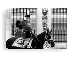 BW UK England  queen Elizabeth 2 Buckingham Palace 1970s Canvas Print