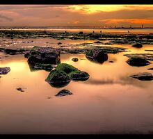 Redcar Beach at Low Tide by Darren Allen