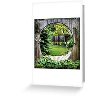 A Garden in Time Greeting Card
