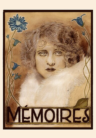 Mémoires, an Art Nouveau / Art Deco inspired poster by PennyLane