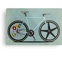 Fixie Bike Metal Print